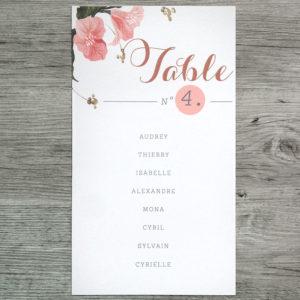 BOTANIQUE plan de table