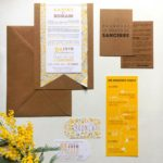 faire-part kraft liberty jaune