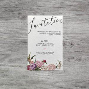 SPARK invitation dentelle et fleurs